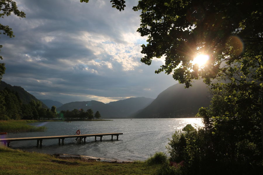 Abendstimmung am Ossiacher See Mountain Lake Tree Landscape Water Scenics Sunlight Nature Mountain Range Outdoors Sunset Tranquility Vacations Beauty In Nature No People Sky Evening Evening Light Evening Sky Ossiacher See