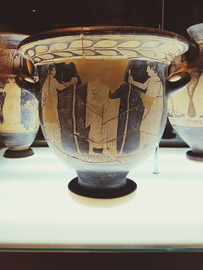 Albanian National Museum Antique Vase Drink Food And Drink Drinking Glass Refreshment Table Healthy Eating Freshness Indoors
