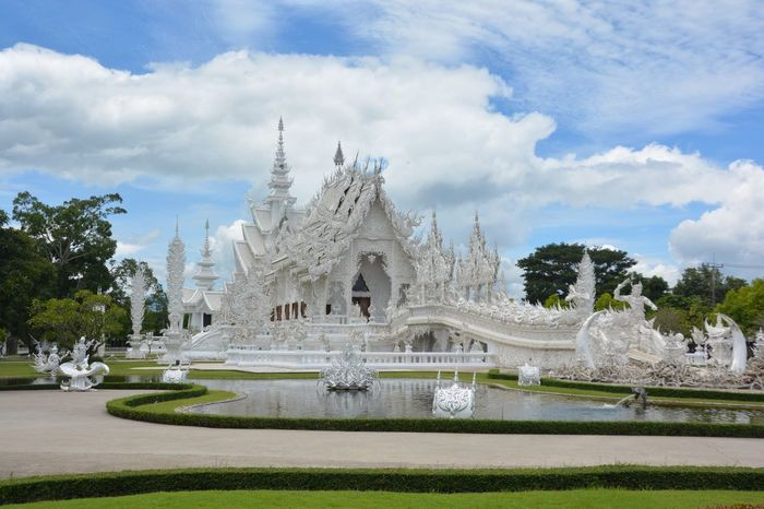 Building Architecture Religion Spirituality Sculpture Travel Destinations Outdoors Building Exterior Thailand Chiang Rai, Thailand White White Temple White Temple Thailand Buddha Temple Buddhism Mordernart First Eyeem Photo