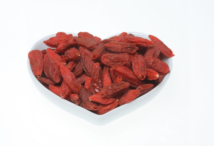 Goji berries, a fruit berry and medicinal plant Bowl Close-up Dried Fruit Food Food And Drink Fruit Fruits Goji Gojiberries Gojiberry Healthy Eating Heap Large Group Of Objects Medicinal Plant No People Red Studio Shot White Background