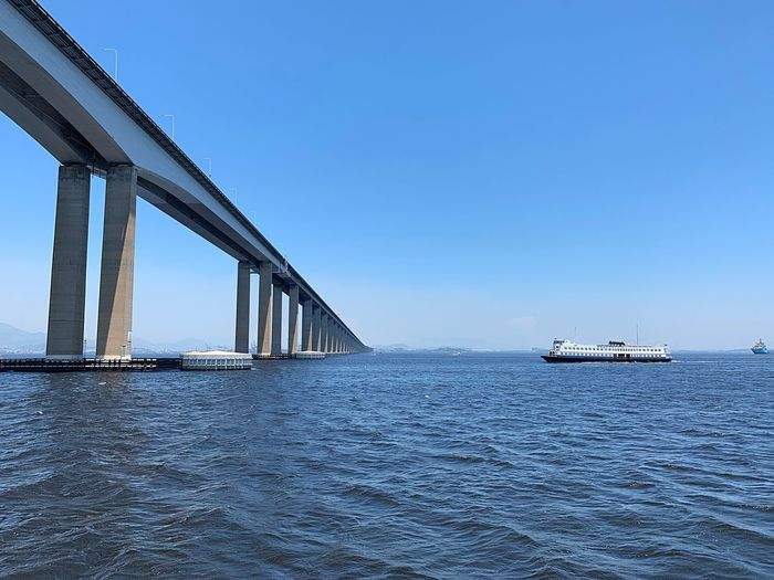 Transportation Water Built Structure Sky Architecture Blue Bridge Connection Bridge - Man Made Structure Travel First Eyeem Photo