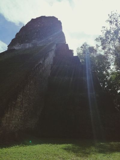 Templo V History Arqueology Peten Outdoors Day Sky Travel Destinations Tree No People Grass Architecture Nature