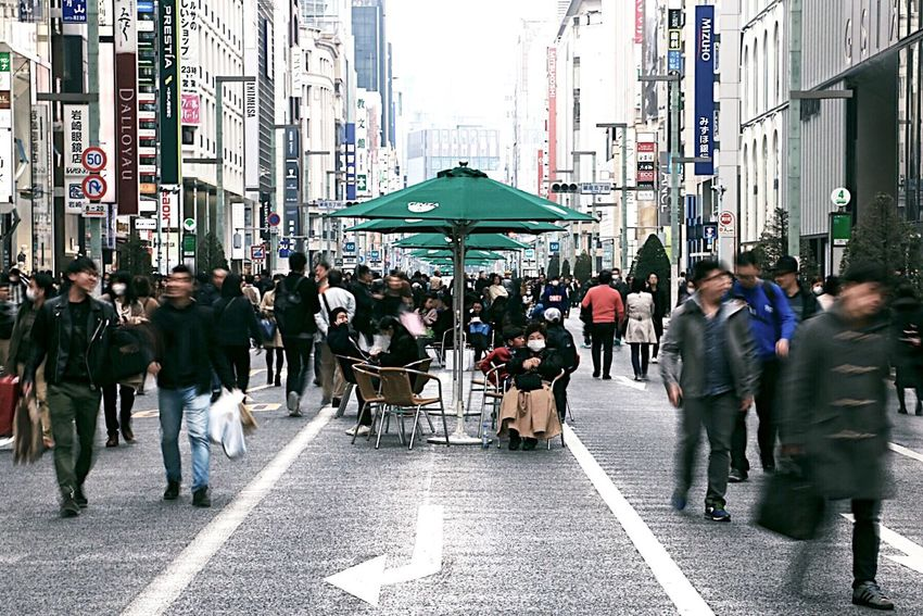 City Large Group Of People Street Crowd City Street City Life Women Men People Outdoors Adult Adults Only Rush Hour Architecture Day Tokyo 銀座