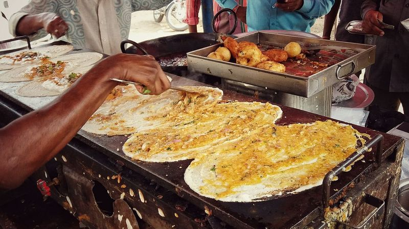 Street Food Worldwide Indian India Outdoors Photograpghy  Street Photography Dosai Break Fast Cheap Food DELICIOUS FOOD ♡ First Eyeem Photo