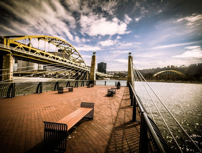 Fort Duquesne Bridge And Pier At Allegheny River