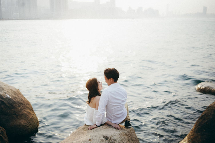 Love Wedding Bonding Bride Day Horizon Over Water Love Love ♥ Sea Sunset Together Togetherness Two People