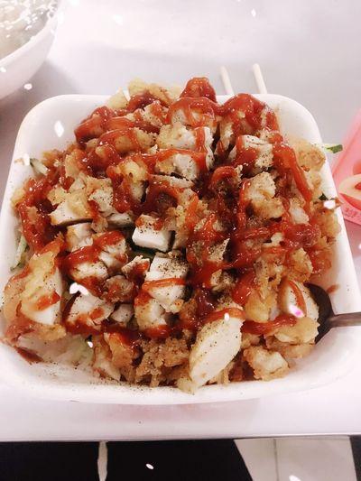 鸡排饭 番茄 黑胡椒