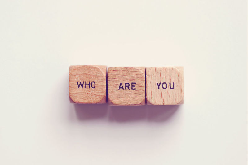 Who are you? Concept Identity Identity Crisis Question Self Confidence Self Worth Studio Shot Text Who Are You ?