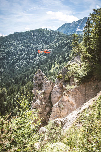 Bergwacht Christophf 14 Helicopter Helirescue Mountain Mountain Range Mountainrescue Transportation Valley