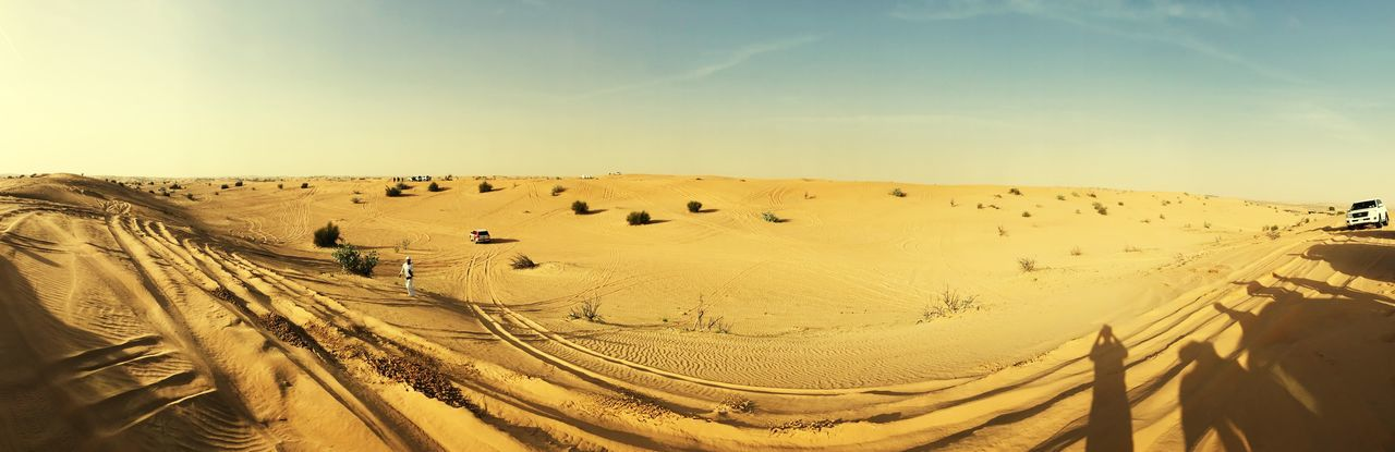 Dubai sand Dubai Landscape Nature Outdoors Day Sky Sunlight Sand Desert Beauty In Nature Sand Dune Scenics