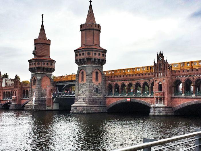 Oberbaum Bridge Over River Spree Against Sky