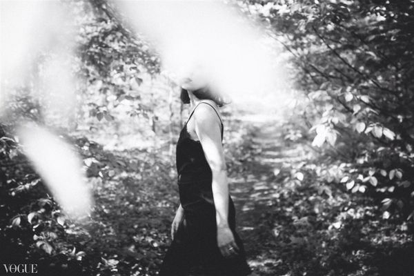 Lost in forest Vogueitalia Black And White Fashion Photography
