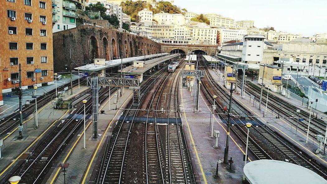 In Genova...the station trains Principe Stationtrain Train Station Genoa, Italy, Europe, Liguria Genova Principe Sky And City