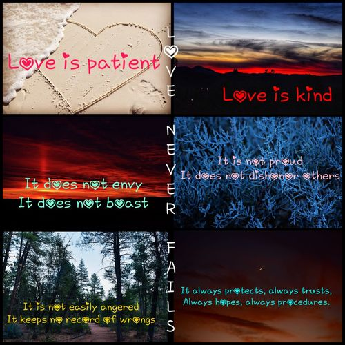 I used my photography to make a collage than wrote this saying on it💋 Nikonphotography Nikon Loveispatient Saying Love Text Western Script Communication No People Guidance Outdoors Day Close-up Sky