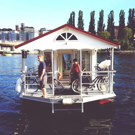 Houseboat Stockholm City Summer A friends house boat. :)