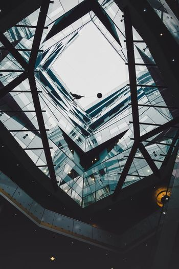 Floating. Uk Birmingham Urbanphotography Urban Geometry EyeEm Best Shots Vscocam Ceiling Sky Day Geometric Shape Skylight Building