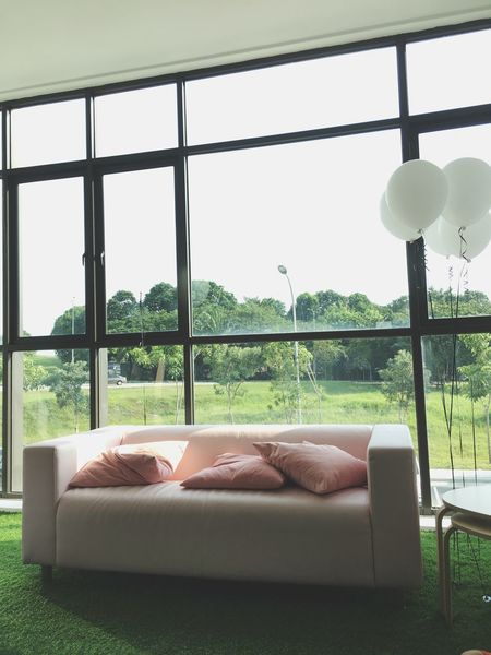 pink sofa White Balloons First Eyeem Photo