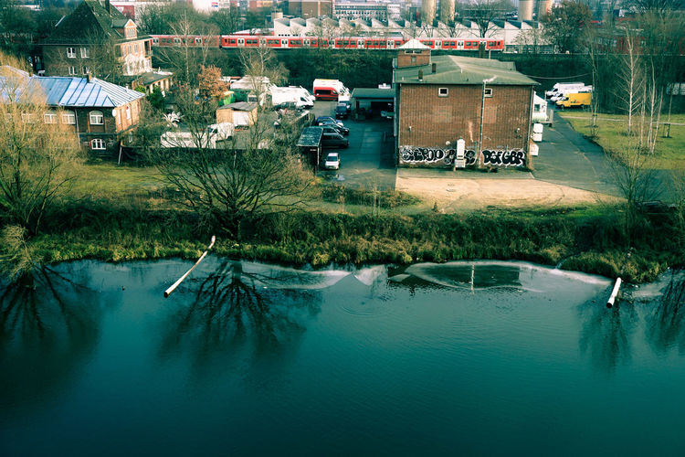 Urban Landscape Out Of My Office Taking Photos Canal Water Urban Nature Train Water Reflections