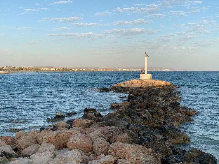 Lighthouse Water Sky Sea Guidance Solid Architecture Built Structure Nature Rock Cloud - Sky No People Beauty In Nature Scenics - Nature Tower Land Day Horizon Over Water Lighthouse Beach Rock - Object