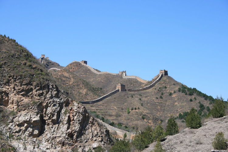 The Great Wall of China Beauty In Nature Blue China Clear Sky Day Hill Idyllic Landscape Mountain Mountain Range Nature No People Non-urban Scene Outdoors Remote Scenics Sky Thegreatwall Thegreatwalllofchina Tranquil Scene Tranquility Travel Destinations