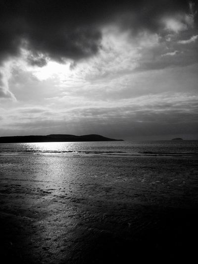 Sunset After The Rain Dark Clouds And Sunshine Dark Clouds Enjoying Life Black And White Editjunky Loving Photography IPhoneography Seascape Sand Bay