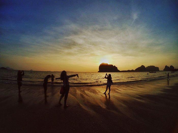 Sunset on the beach First Eyeem Photo Sunset Xiaomiphotograph Yicamera