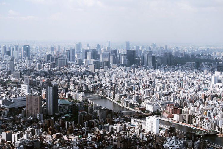 Aerial View Architecture Building Exterior Built Structure City City Life Cityscape Crowded Development Financial District  Growth High Angle View Modern Office Building Outdoors Residential District River Sky Skyscraper Tall Tall - High Tokyo Tower Urban Skyline Water