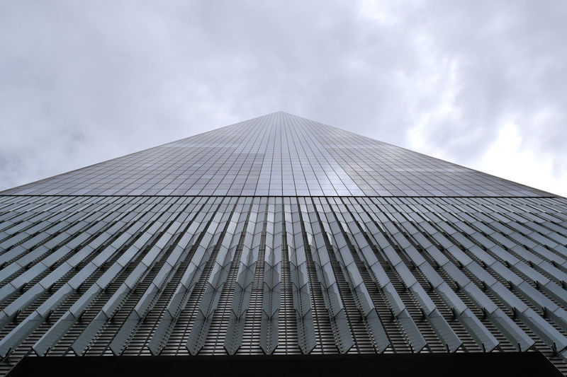 Low Angle View Of Tall Building Against Sky