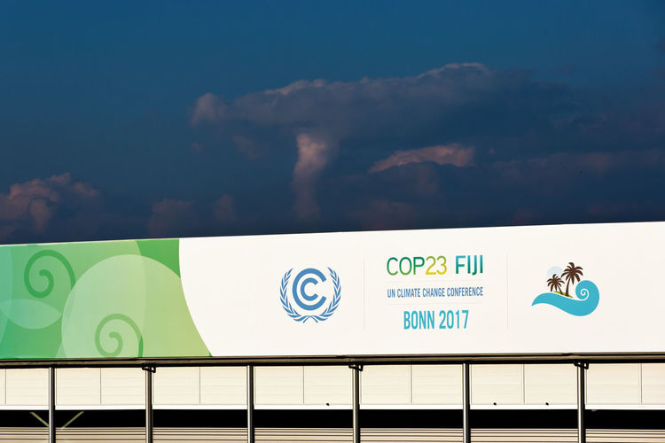Bonn 2017 COP23 Event International Logo Politics Sign Text UNO United Nations Venue Climate Climate Change Climate Change Conference Climate Change(global Warming) Cloud - Sky Communication Conference Day Display No People Original Outdoors Sky Thunderstorm