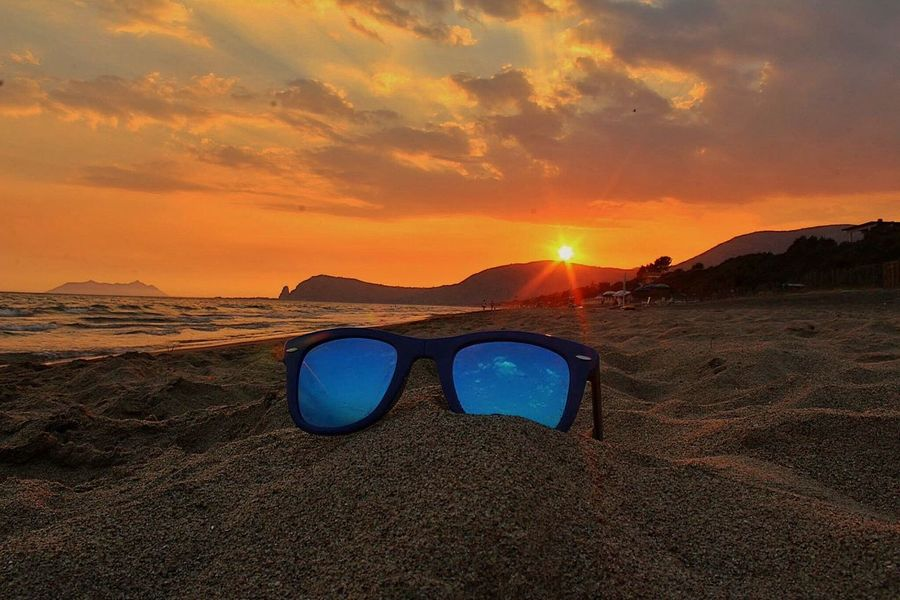 SUNsetGLASSES Fine Art Photography On The Way Sunset Glasses Colors Red Orange Color All_sunsets Circeo Terracina Sperlonga Rioclaro Beach Sea And Sky Summer