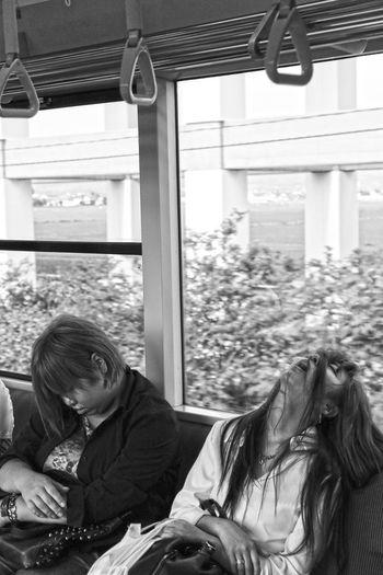 Fatigue Photo Snap Train Sleeping Girl Crazy Strange B&w Monochrome First Eyeem Photo