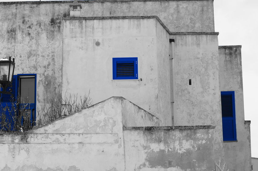 Architecture Window Blue Outdoors No People Façade Wall Light And Shadow Black & White Black And White Wall - Building Feature Full Frame Enjoying Life Seaport District Architecture Sea View Alone Holding Good Times Hello World