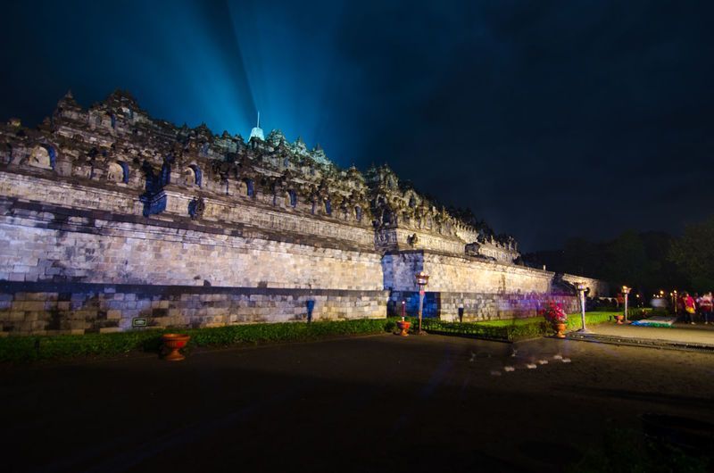 amazing lampion waisak / vesak at borobudur temple, indonesia Architecture Building Exterior Built Structure City Group Of People History Illuminated Incidental People Lighting Equipment Mode Of Transportation Nature Night Outdoors Road Sky Street The Past Transportation Travel Destinations
