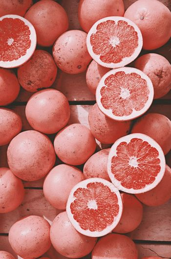 Close-up of grapefruits