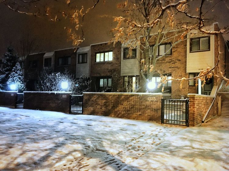 Townhouse Architecture Cold Season❄️ Wintertime Night Shots  House Structure