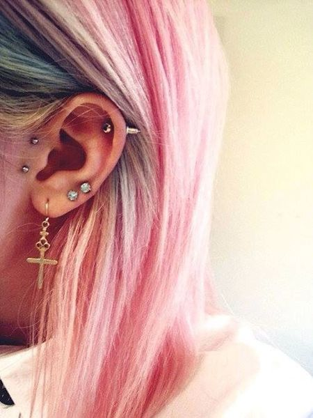 Today's Hot Look New Earring Cool Stuff Pink Hair