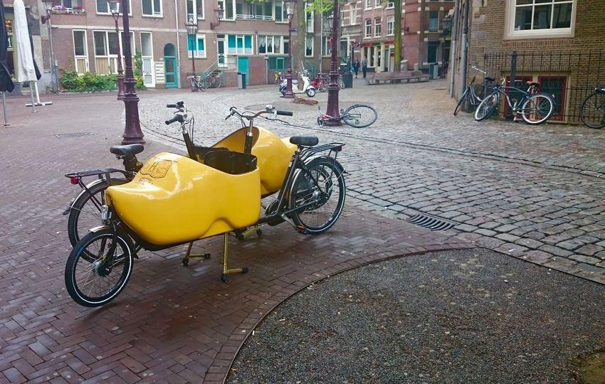 Amsterdam Fahrrad Fahrräder Bike Bikes Bakfiets Holland Niederlande Netherlands Clogs