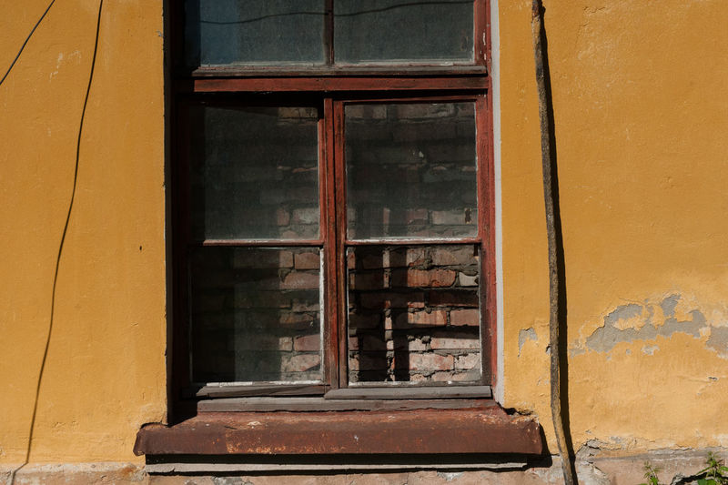 Window to wall& Petrogradskaya District Abandoned Architecture Building Exterior Built Structure Close-up Day Door No People Outdoors Window