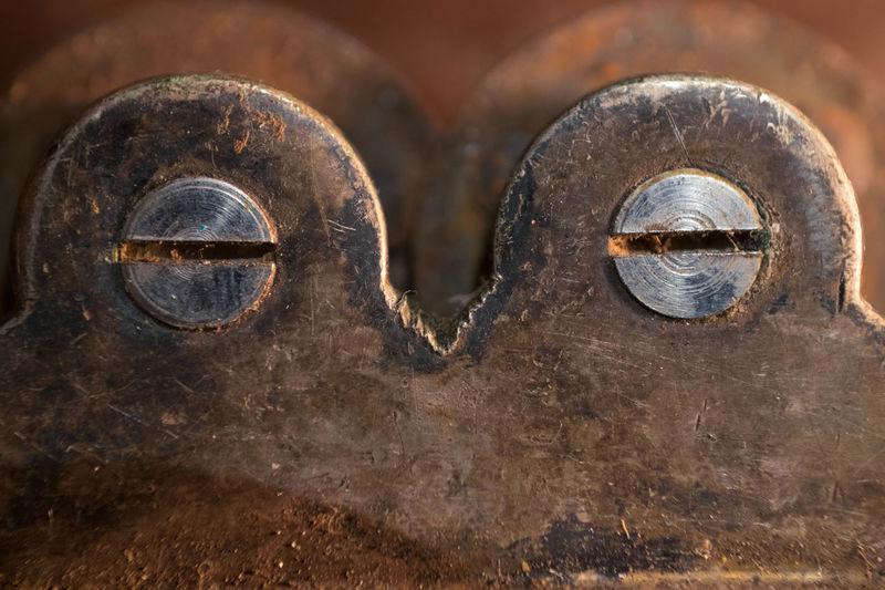 Old rusty knife sharpener! Bird Character Close-up Closed Day Eyelids Eyes Full Frame Interesting Iron Knife Sharpener Like A Bird Metal Metallic No People Object Old Ornament Outdoors Owl Rusty Screws Shut Sleeping Sleeping Bird