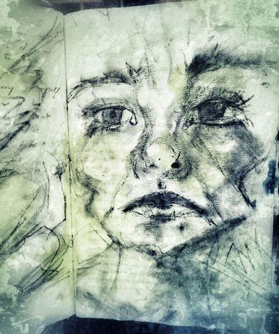 Self portraits. Blackandwhite Sketch Drawingaday