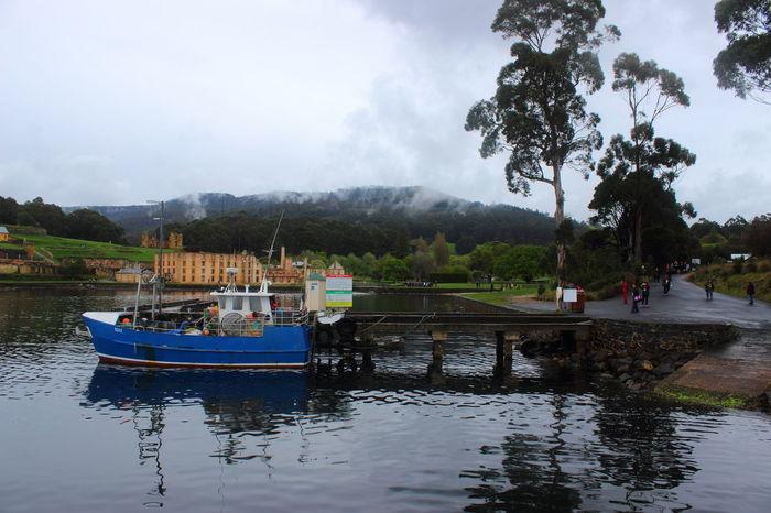 Australia Australian Landscape Beauty In Nature Nature Port Arthur Tasmania TasmaniaAustralia Forest Fog Water Outdoors Boat Day Landscape Blue Been There.