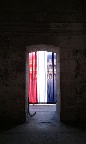 Liberté, égalité, fraternité. Architecture Castle Curtain Day Drapes  Flag French Flag Museum No People Paris Paris Je T Aime Paris ❤ Paris, France  Political Politics Politics And Government Window Purist No Edit No Filter Purist (no Filter) Purist In Photography