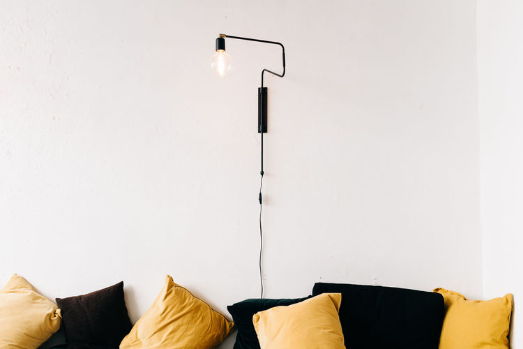 HYGGELIG Lighting Equipment Indoors  Furniture Electric Lamp No People Illuminated Pillow Modern Wall - Building Feature Copy Space Absence Domestic Room Sofa Home Interior Stuffed Light Electric Light Home Home Showcase Interior Cushion Electricity  Cozy My Best Photo