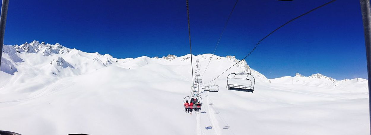 Snow Winter Cold Temperature Cable Ski Lift Blue Nature Skiing Snowboarding Snowcapped Mountain Scenic Overhead Cable Car Christmas Holidays Holidays Beauty In Nature Mountain Scenics Transportation Sky Tranquility Day Outdoors Landscape Tree No People