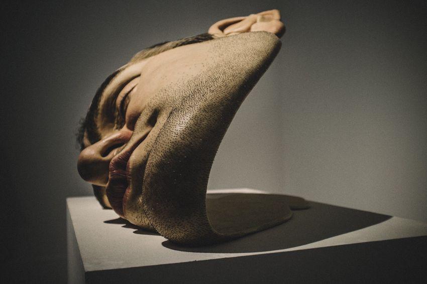 Mask II by Ron Mueck circa 2011 Art Photography Cdmx Mexico City San Ildefonso
