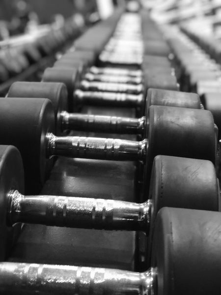 What makes me feel good 💪🏼 Dumbells Dumbells Fitness Gym In A Row Indoors  No People Close-up Day Love Yourself This Is Strength