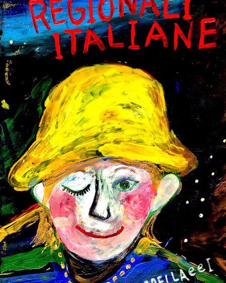 REGIONALI ITALIANE ペペロッソのメニューブック #メニューブック #黄色い帽子の人 #fuyumi #三軒茶屋 #イタリアン #レストラン #ペペロッソ #ランチタイム #ランチデート #ランチビール #ランチコース #ランチの幸せ #昼 #REGIONALIITALIANE #贅沢ランチ #パスタランチ #昼飲み #昼からビール #昼からお酒 #昼からワイン #ディナー #パスタ #手打ちパスタ http://www.peperosso.co.jp 黄色い帽子 Text Art And Craft Western Script Creativity Representation Communication Close-up Multi Colored Human Representation Indoors  Graffiti Capital Letter Painted Image Paint No People Yellow Day Painted Mural