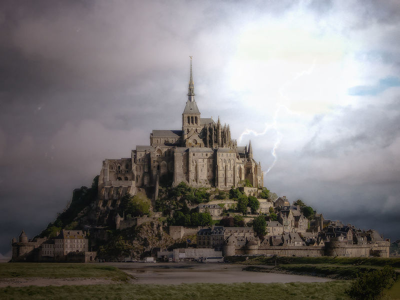 Mont Saint Michel Architecture Religion Travel History Travel Destinations Cloud - Sky Outdoors Landscape Day Sky EyeEmNewHere Thunderstorm Lightning