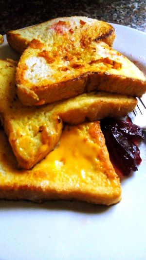 fried toast. Friedtoast Toastbread Cheese Egg Cooking At Home Healthy Food Simplefood Food