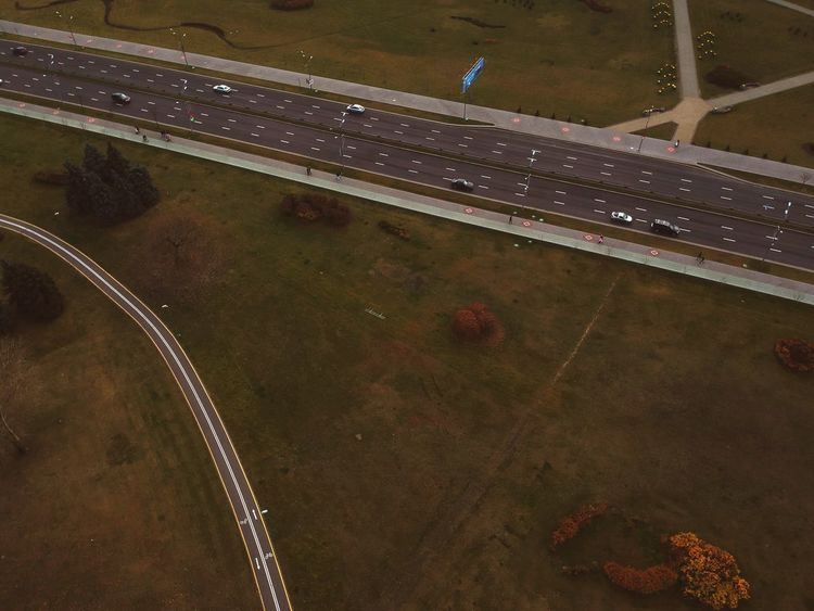 High Angle View Transportation Nature No People Aerial View Water Road City Wet Symbol Built Structure Street Court Road Marking Marking Sport Architecture Day Outdoors